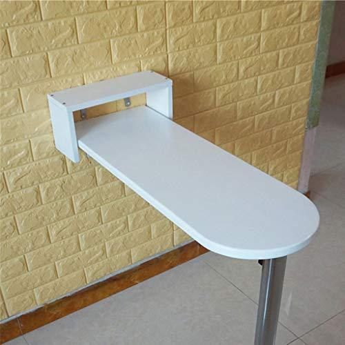 Computer bureau KTV Meubelbar tafel Hoge tafel tegen de muur Eenvoudige en moderne klaptafel Ronde eettafel in wit hout Breedte 20 cm/30 cm/40 cm (Afmetingen: 85 * 20 * 80 cm)