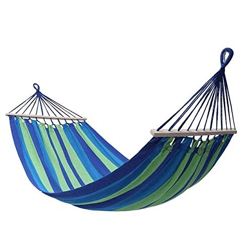 FENGSZ Portable Hammock With Mosquito Net Camping Hanging Bed,260 * 140Cm,Load Capacity Up To 440 Lbs,For Outdoor,Yard,Blue