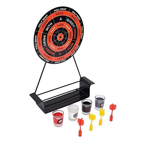 Vbest life Mini Magnetic Dart Dartscheibe Metall Dartscheibe Set Rack Fun Shot Spiel mit 4 Gläsern für Freunde Familie Trinkparty Home Office