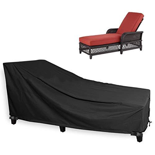 DAGUAI Muebles 600D Oxford Tela Cubierta Exterior reclinable Cubierta a Prueba de Polvo y Resistente al Agua de Protección Solar Muebles de jardín Conjunto 78Lx35.5Dx33h Pulgadas, 02 (Color : 2)