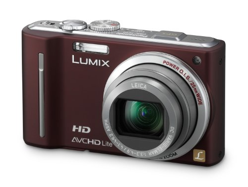 Panasonic Lumix DMC-TZ10EG-T Digitalkamera (12 Megapixel 12-fach opt. Zoom, 7,6 cm (3 Zoll) Display, Bildstabilisator, Geo-Tagging) chocolate