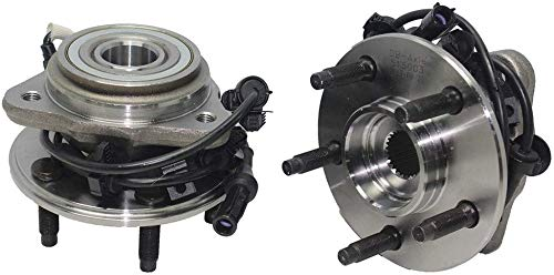 Detroit Axle - Brand New 4x4 Front Wheel Hub and Bearing Assembly w/Round ABS Wire 4x4 [5-LUG] for 1995-01 Ford Explorer 4x4 - [1997-2001 Mountaineer 4x4] - 01-09 Ranger 4x4-01-09 B4000 4x4 (1999 Ford Explorer 4x4 Front Wheel Bearing Replacement)