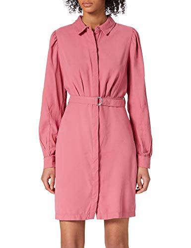 Only ONLARIS Life Puff L/S Short Dress PNT Kleid, Baroque Rose, L para Mujer