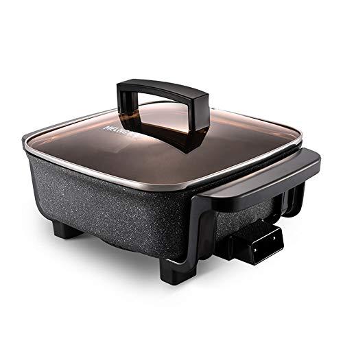 NAFE Elektrische hete pot, multi-functie, elektrische wok, geschikt voor gestoomde rijst, roerbak, barbecue,Vaporiera
