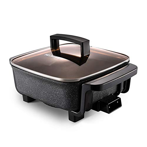 Olla eléctrica, eléctrica, wok eléctrica, multifunción, hogar, arroz al vapor, vegetales fritos, una olla de barbacoa
