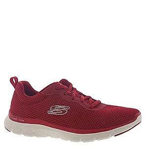 Skechers Women's Flex Appeal 4.0 - Brilliant View Sneaker, Red, 8.5 W