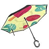 reiseregenschirm kompakt Mini Reversible zusammenklappbare Damen Cyber Montag