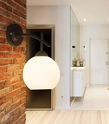 Z-LIANG Wall Nordic American Country Vintage de hierro forjado de una sola cabeza de la pared de la lámpara LED, dormitorio de la lámpara de la lámpara Estudio lámpara de cabecera de pasillo pasillo s