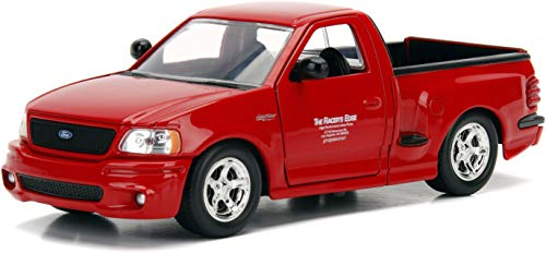 Jada Toys Fast & Furious 1:24 Brian's Ford F-150 SVT Lightning Die-cast Car, Toys for Kids and Adults, Red (99574)