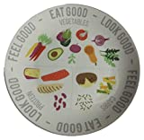 Healthy Eating Plate Diet Portion Control & Food Ideas Plate for Weight Loss 10.8 inches