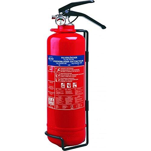 Smartwares BB1E - Extintor de polvo seco con resistencia al fuego (1 kg) color rojo