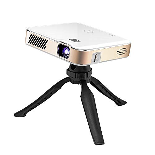 "KODAK Luma 450 Portable Full HD Smart Projector | Wi-Fi, Bluetooth, HDMI & USB Compatible Mini Home Theater System Up to 150"" | 1080p Native Resolution (4K), 200 Lumens | Tripod Included"