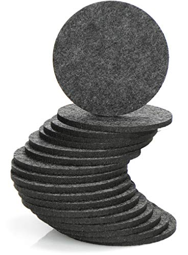 com-four® 18x Filz-Untersetzer für Getränke - runde Tischuntersetzer - Glasuntersetzer aus Filz - Getränke-Untersetzer (Ø 10cm - Rund)