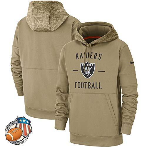 Männer Hoodie - Oakland Raiders - NFL Camouflage Amerikanische Rugby Pullover Fußballfan-Ball Jersey Army Green-XL