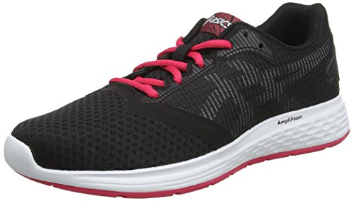 Asics Patriot 10, Zapatillas de Running para Mujer, Negro (Black/Pixel Pink 001), 38 EU