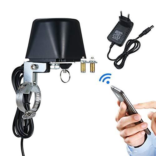 Smart Wi-Fi Wasserregulierventil mit justierbarem Montagewinkeln Drahtlose elektrischen Gasventil-Controller für Küche (Color : Black)