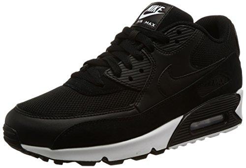 Nike Nike Herren Air Max 90 Essential Low-Top, Schwarz (Black/Black/White 077), 44 EU