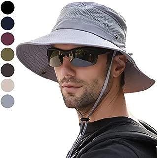avec Un Menton r/églable TAGVO Chapeaux de Soleil /à Bord Large UV Protection Chapeaux de p/êcheur Camping Randonn/ée Voyage Chapeau /Ét/é Pliable Visor Chapeaux pour Hommes Femmes