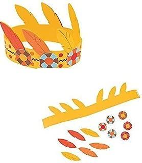 (12) Native American Headband Kits ~ One Dozen THANKSGIVING Arts & Crafts Kits ~ Party Fun ~ School Fairs ~ 12 new