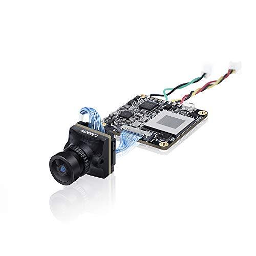 FPV Camera Caddx Loris 4K 60FPS Mini HD Cam 800TVL 1.8mm Lens FOV 165 Degree PAL/NTSC Switchable with 1/2.7 CMOS Sensor DWDR 40ms Latency for FPV Quadcopter Racing Drone Black