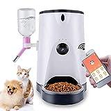 DKEE Comedero para Mascotas Comedero Automático for Mascotas. Dispensador De Alimentos Inteligente con Cámara De Alta Definición Y Monitoreo Remoto por Video De Perros Y Gatos.