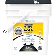 Purina Tidy Cats LightWeight 4-in-1 Strength Clumping Dust Free Cat Litter - 17 lb. Pail