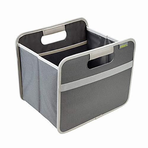 meori Faltbox BestSeller Granit Grau 32x26,5x27,5cm Polyester Wäsche Kuscheltiere mit Griffen Verstauen Räumen Regal Klappbox