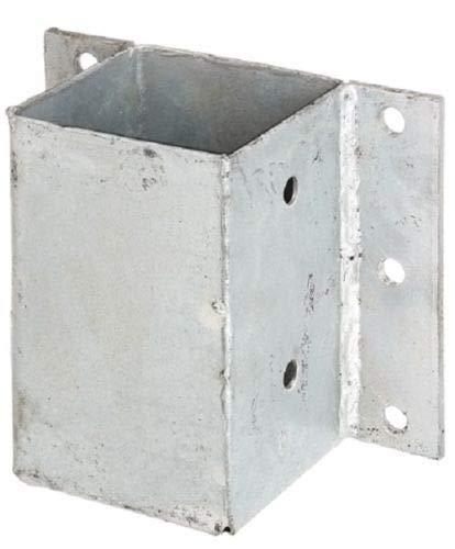 ITALFROM Support galvanisé à soufflet pour poteau carré Moral en bois 90 x 90 cm