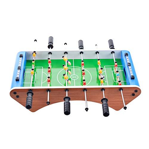 JOAN Mesa de futbolín, futbolín, juego de fútbol interior de Fútbol, mini juego de mesa de fútbol, juegos familiares para niños – 20 x 10 x 5 pulgadas