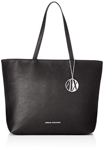 Armani Exchange - Womans Shopping, Bolsos totes Mujer, Negro (Black), 30x10x42 cm (B x H T)