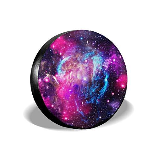 Lewiuzr Universe Galaxy Starry Stars Cubierta de neumático de Repuesto Protector Solar de poliéster Cubiertas de Rueda Impermeables Ajuste Universal