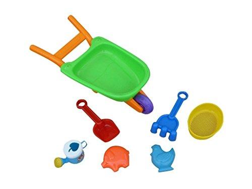 B35 - Juego de 7 carretilla, juguetes de arena para verano, caja de arena para playa