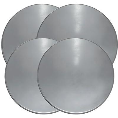 Range Kleen 550 Stainless Steel Round Burner Kovers, Set of 4