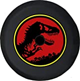 JL Spare Tire Cover Dinosaur T-Rex Park 4x4 Offroad JL Tire Cover with Backup Camera Hole BUC (Fits: JL Accessories) Black Size 32 Inch with Grommets
