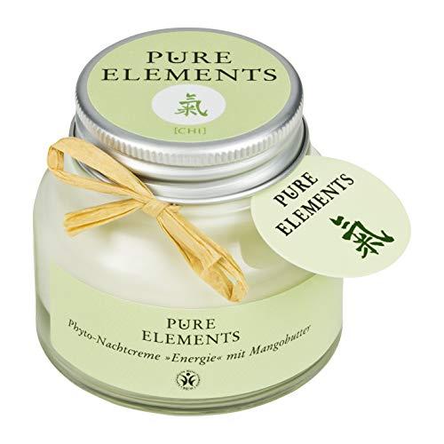 Pure Elements Naturkosmetik   Chi Phyto Nachtcreme - Energie mit Mangobutter   Reine Naturkosmetik im Glas   50 ml