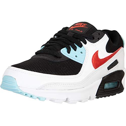 Nike Air Max 90 Women Sneaker (White/Aqua, Numeric_40)