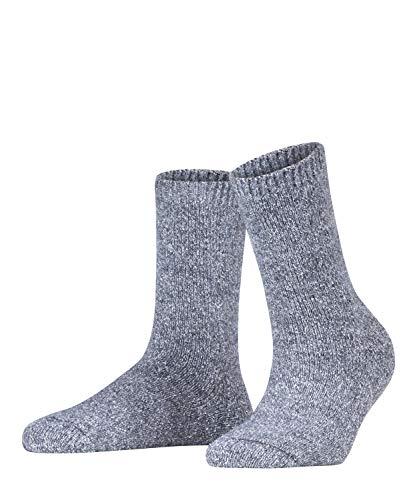 FALKE Damen Socken Melting Pot, Baumwolle/Wollmischung, 1 Paar, Grau (Hematite 3240), Größe: 39-42