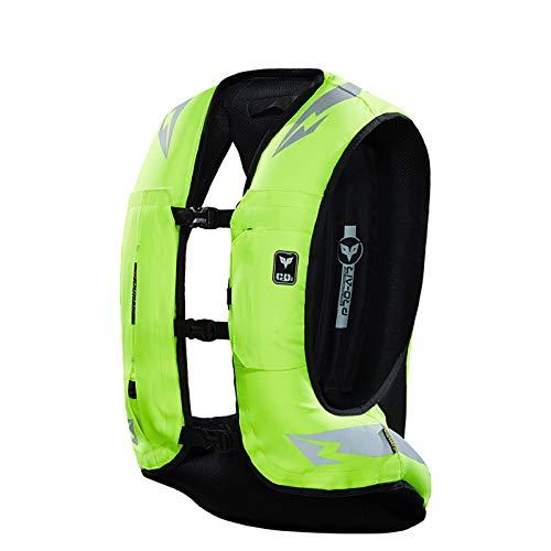 Reutilizable Chaleco Airbag Equipo De Protección del Sistema De Bolsas De Aire,Protección para Espalda Y Cadera Y Cuello Y Coxis,Chaleco Airbag