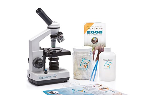 Microscope Kit for Fecal Egg Count, by Eggzamin. Accessories for Testing and How-to Guide to Test Your Animals for parasites Before deworming.