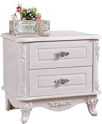 HappyL Elegant And Noble Bedside Table Retro Bedroom Special Solid Wood Bedside Table Hard And Firm Two Drawers Thick Wooden Material Suitable For All Kinds Of Beds 53X40X48Cm