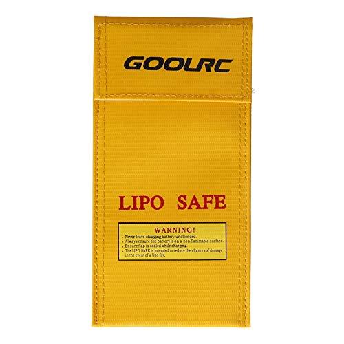 GoolRC 7.87 * 3.94in Bolsa Segura para Batería Lipo Bolsa de Almacenamiento de Batería a Prueba de Explosiones a Prueba de Fuego