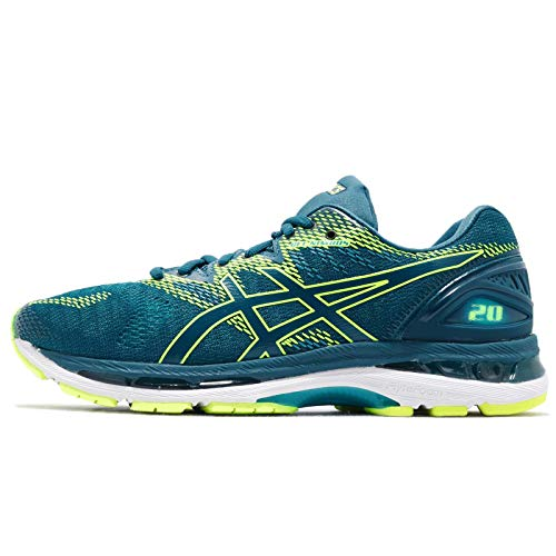 Asics Gel-Nimbus 20 Hombre Running Trainers T800N Sneakers Zapatos (UK 7.5 US 8.5 EU 42, Deep Aqua Lagoon 401)
