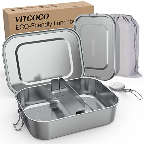 Vitcoco -   Brotdose Edelstahl