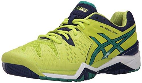 ASICS Men's Gel-Resolution 6 Tennis Shoe,White/Blue/Silver,6 D(M) US