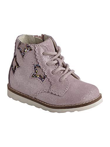 Vertbaudet Schnür-Boots für Baby Mädchen, Leder rosa 22