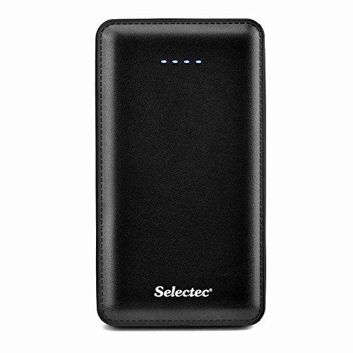 SELECTEC Powerbank 10000 mAh Externer Akku Powerbank Ladegerät für Handy iPhone Samsung iPad Smartphone Farbe Schwarz