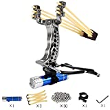YYSM slingshots for Hunting, Slingshot,Heavy Duty Adjustable Wrist Brace Hunting Catapult,High Velocity Catapult for Kids Adult (Deluxe Edition)