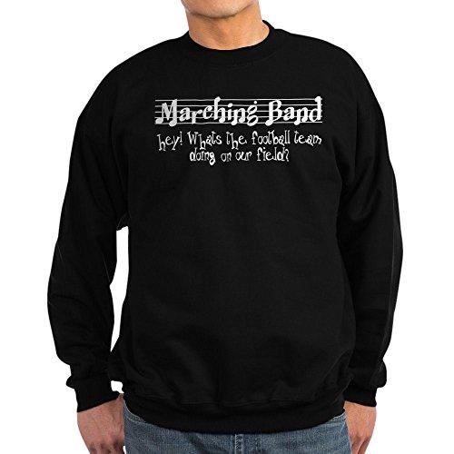 CafePress Marching Band Sweat-shirt à col rond classique - Noir - Taille Unique