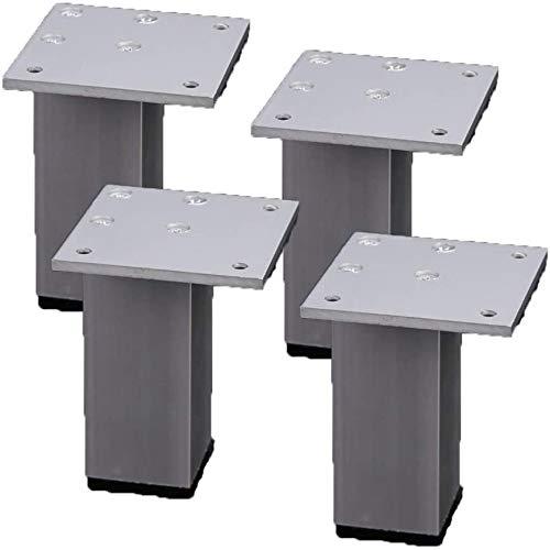 Muebles pies de mesa de metal patas de muebles de cocina Pies de aleación de aluminio de repuesto Plaza Risers muebles Patas Sofá Sofá cama Armarios Risers con tornillos, juego de 4 ( Color : 10cm )