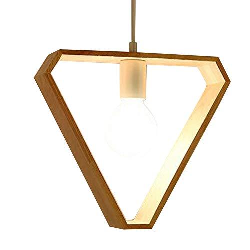 Nordische Hängeleuchte aus Holz, dreieckig, geometrisch, für Esszimmer, Bar, Restaurant, Dekoration